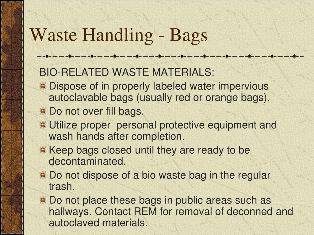 Waste Handling - Bags