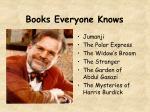 books everyone knows