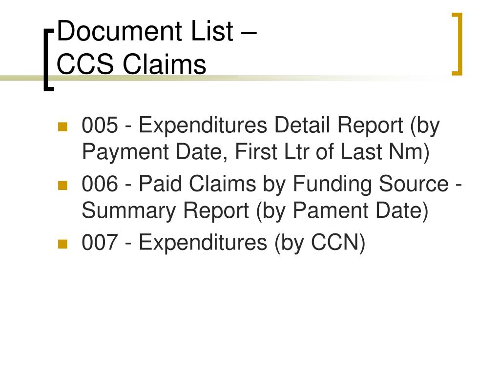 Document List –