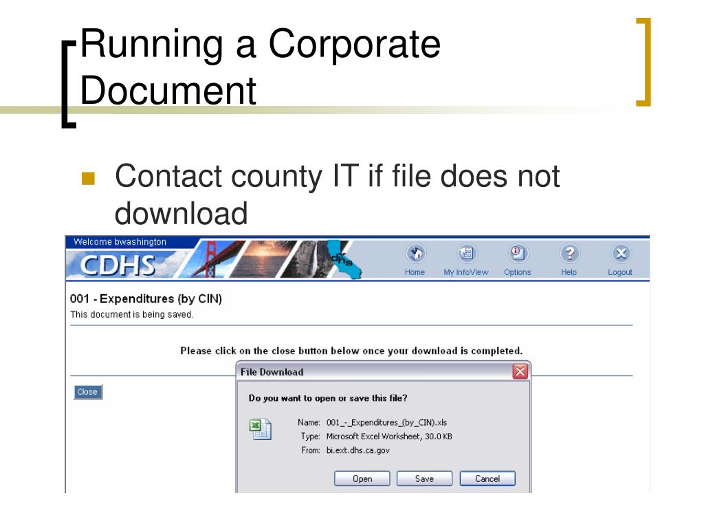 Running a Corporate Document