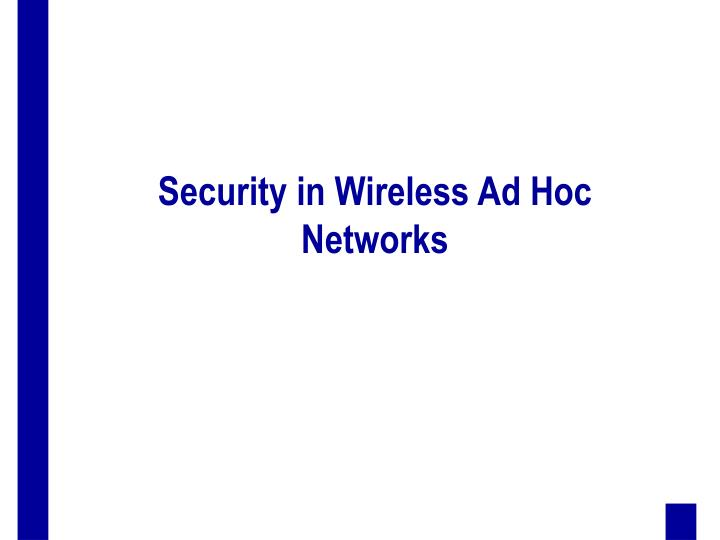 wireless network security research papers Abstract network security problem has been concerned in recent years, the prediction of network security situation can ensure the safety of network , and therefore the application of fuzzy neutral network on it is studied in depth.