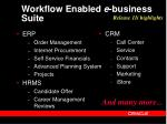 workflow enabled e business suite
