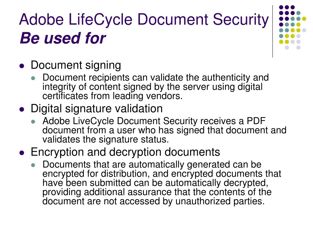 Adobe LifeCycle Document Security