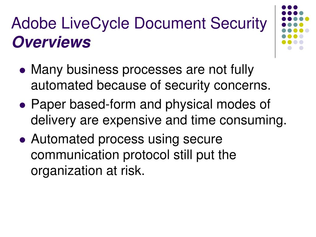 Adobe LiveCycle Document Security
