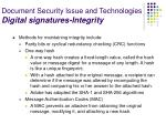 document security issue and technologies digital signatures integrity