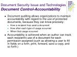 document security issue and technologies document control accountability