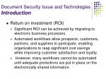document security issue and technologies introduction18