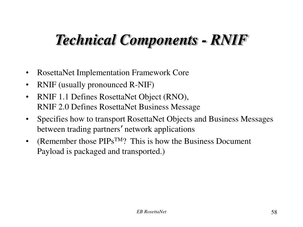Technical Components - RNIF