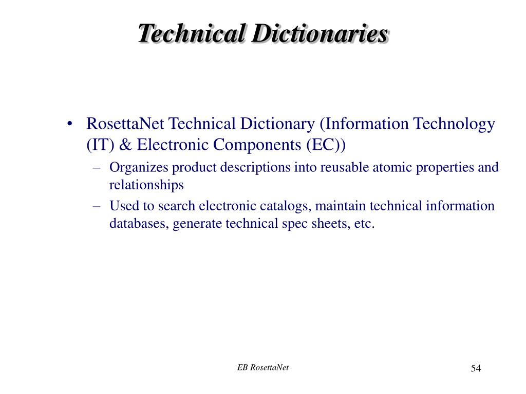 Technical Dictionaries