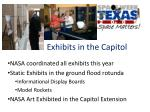 exhibits in the capitol