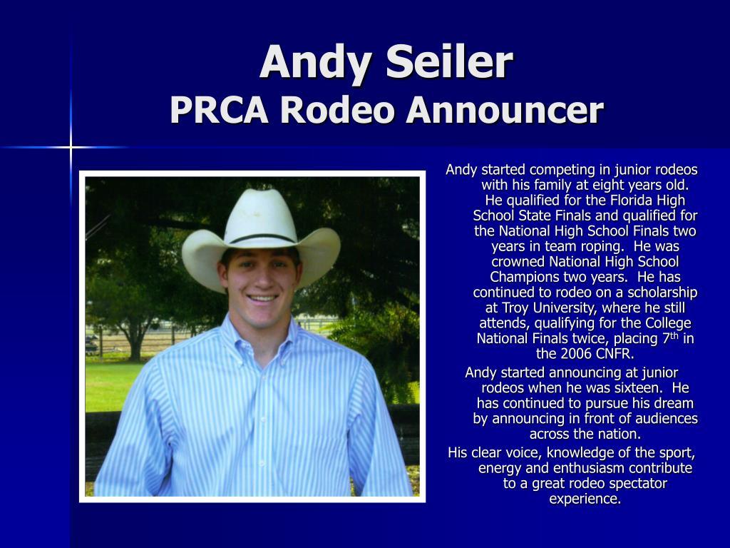 andy seiler prca rodeo announcer l.