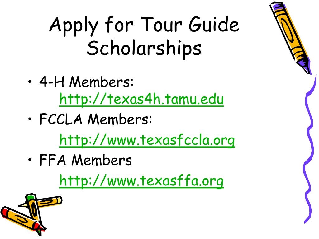 Apply for Tour Guide Scholarships
