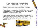 car passes parking