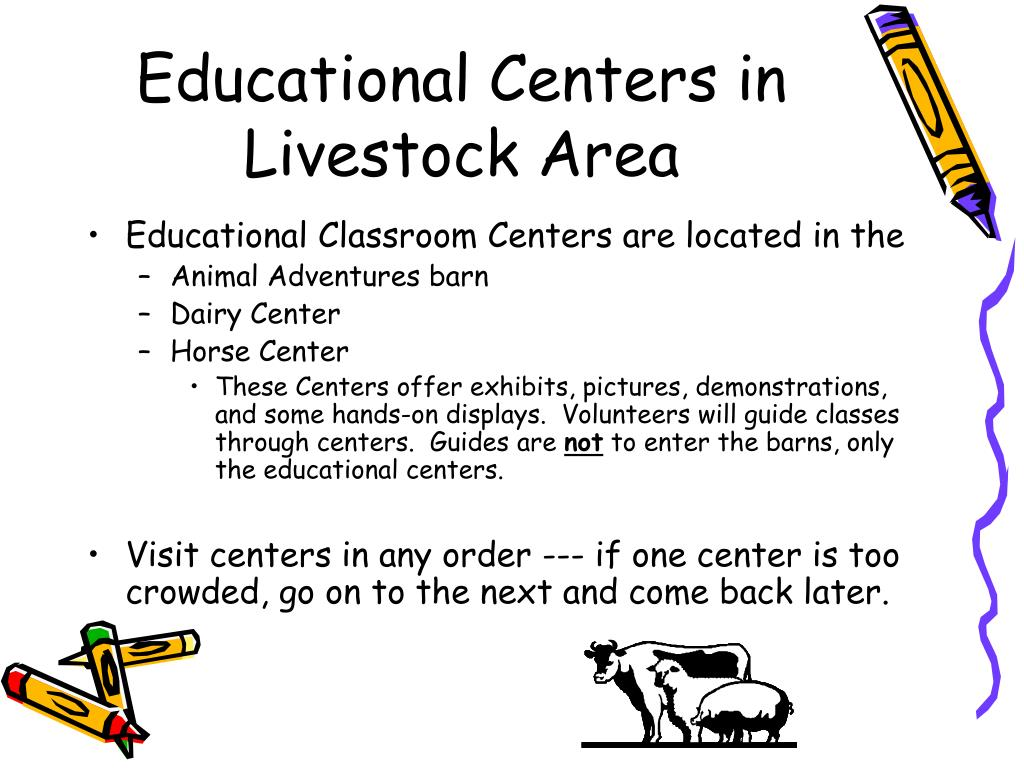 Educational Centers in Livestock Area