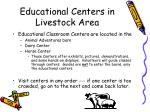 educational centers in livestock area