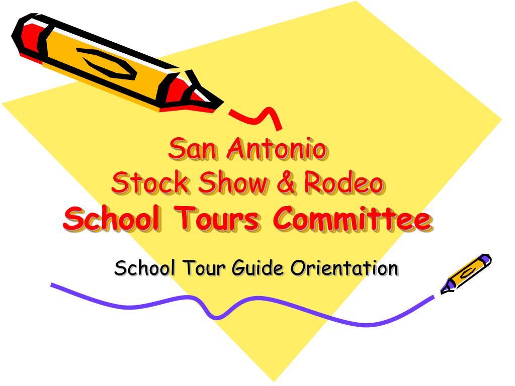 san antonio stock show rodeo school tours committee l.