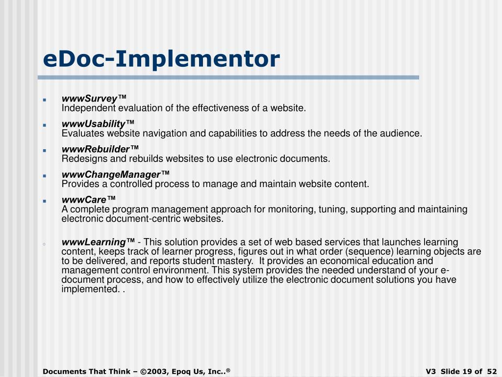 eDoc-Implementor