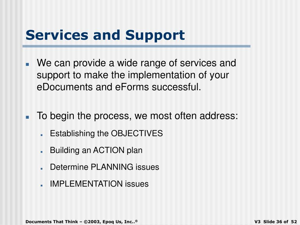 Services and Support