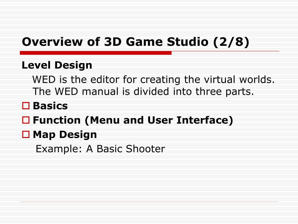 Overview of 3D Game Studio (2/8)