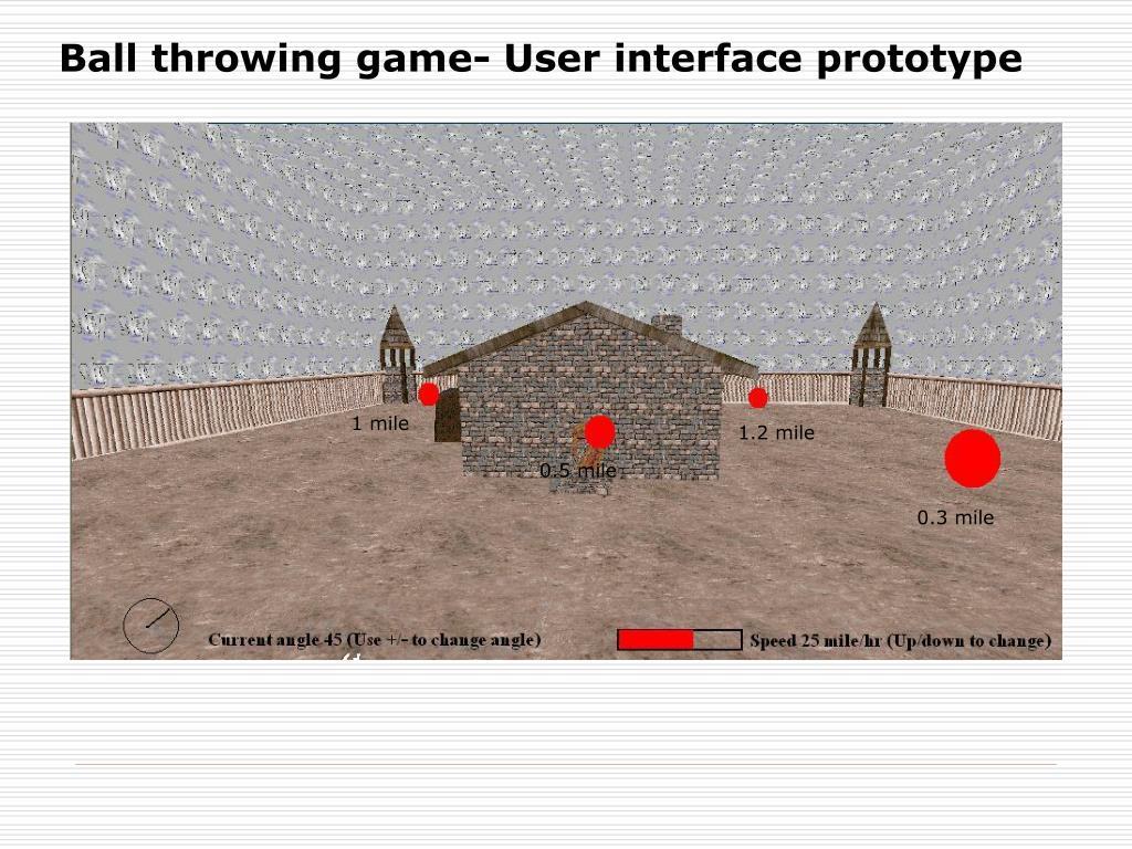 Ball throwing game- User interface prototype