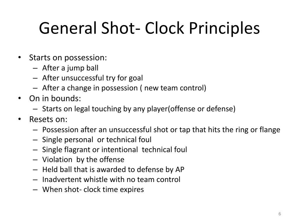General Shot- Clock Principles