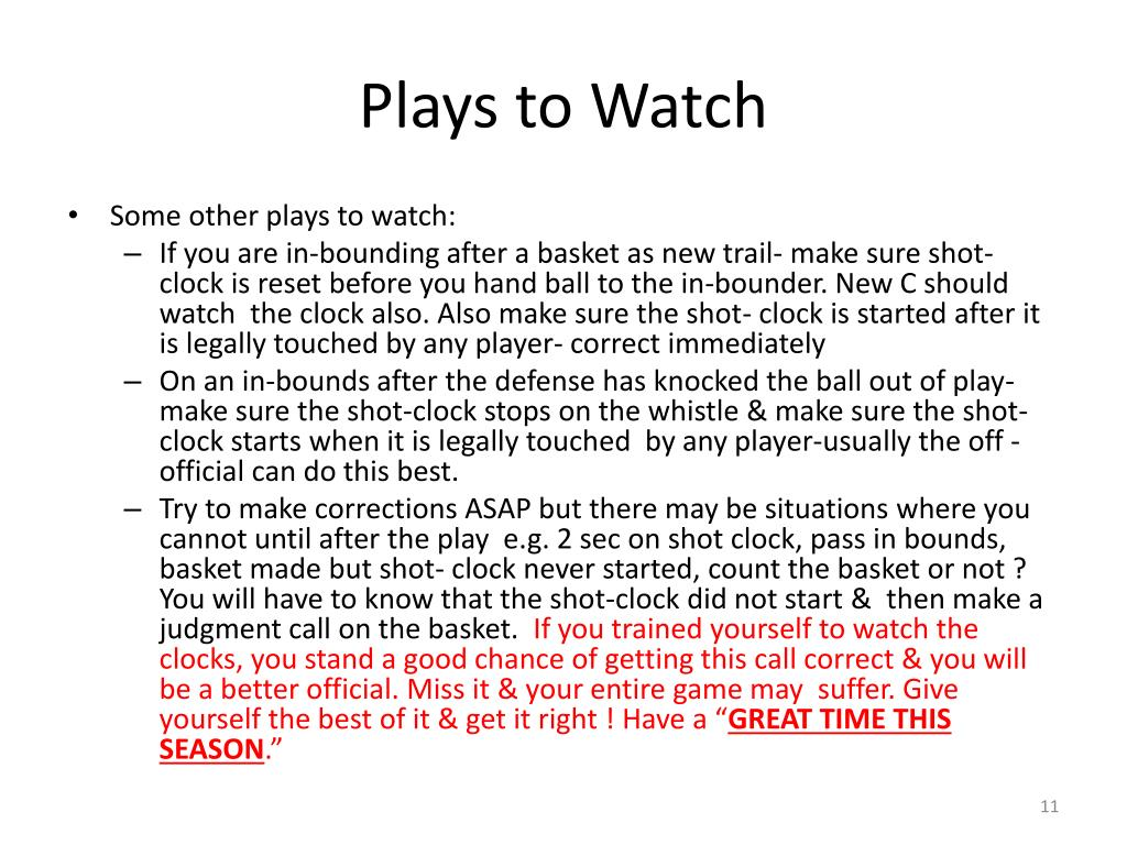 Plays to Watch