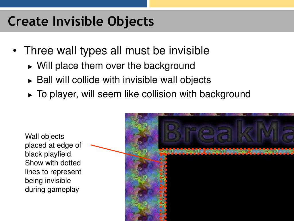 Create Invisible Objects