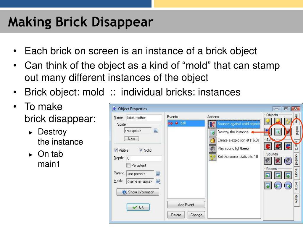 Making Brick Disappear