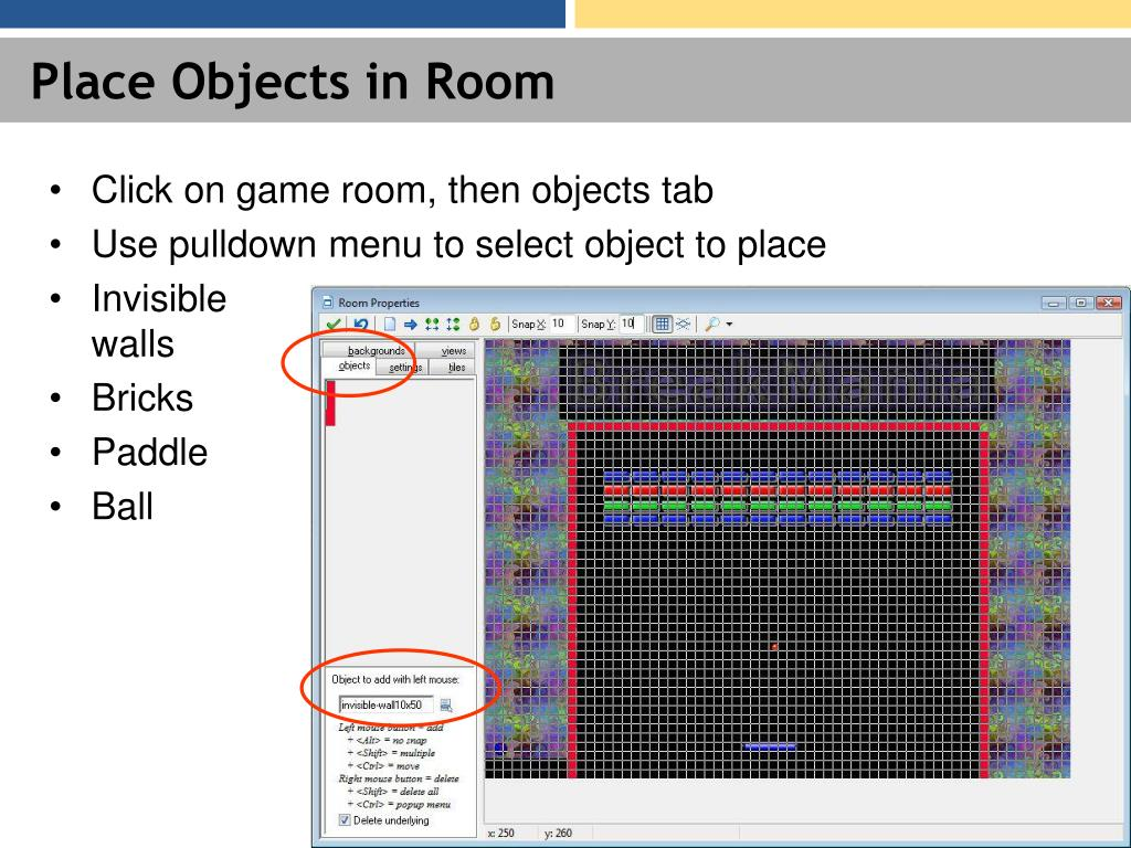 Place Objects in Room