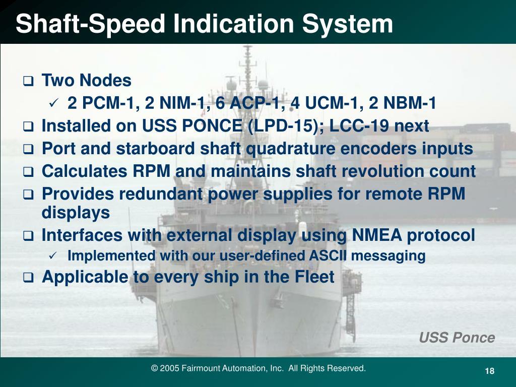 Shaft-Speed Indication System