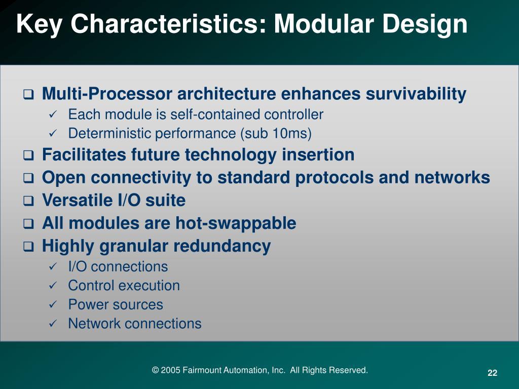 Key Characteristics: Modular Design