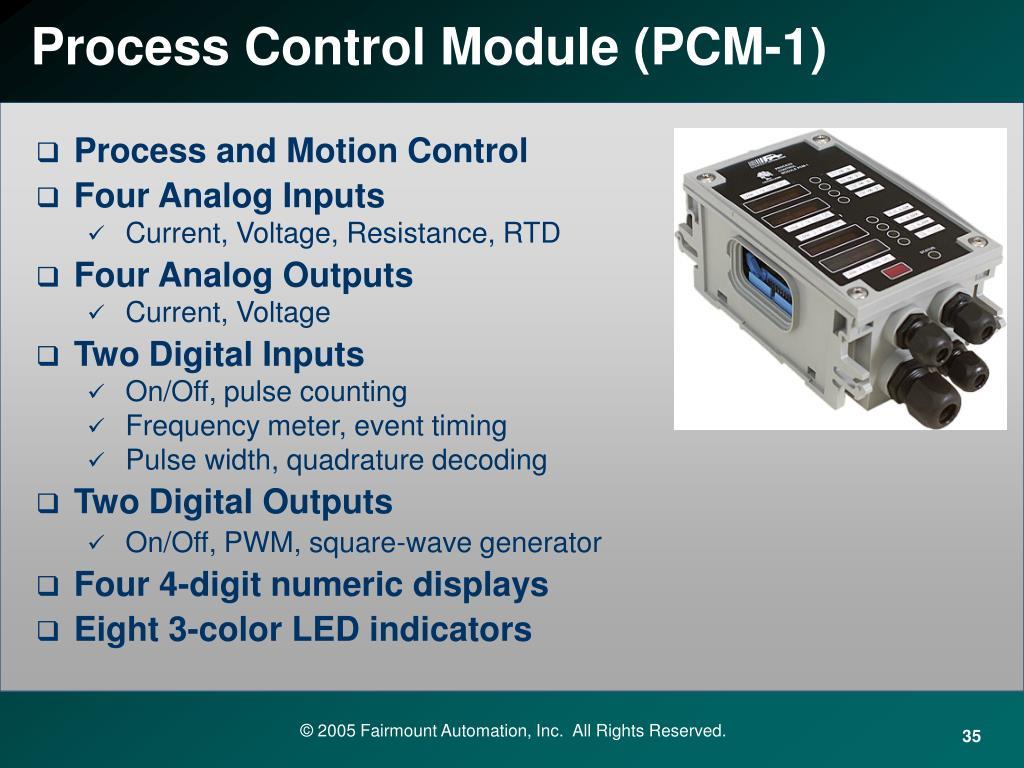 Process Control Module (PCM-1)