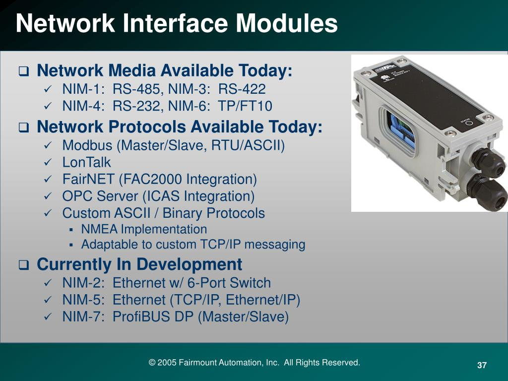 Network Interface Modules