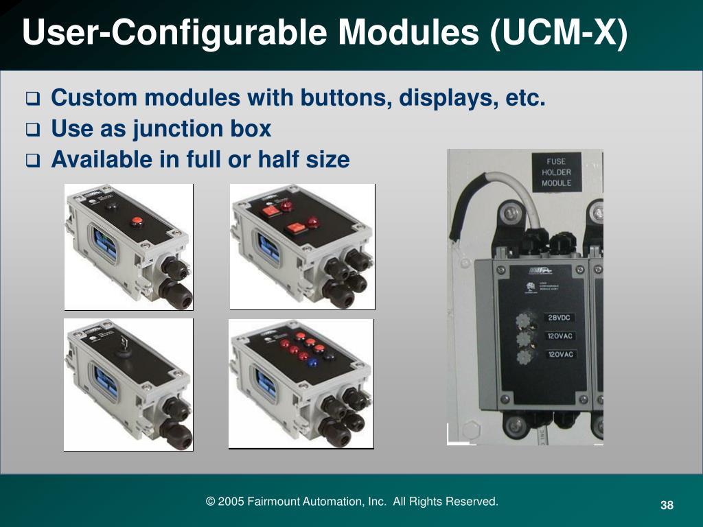 User-Configurable Modules (UCM-X)