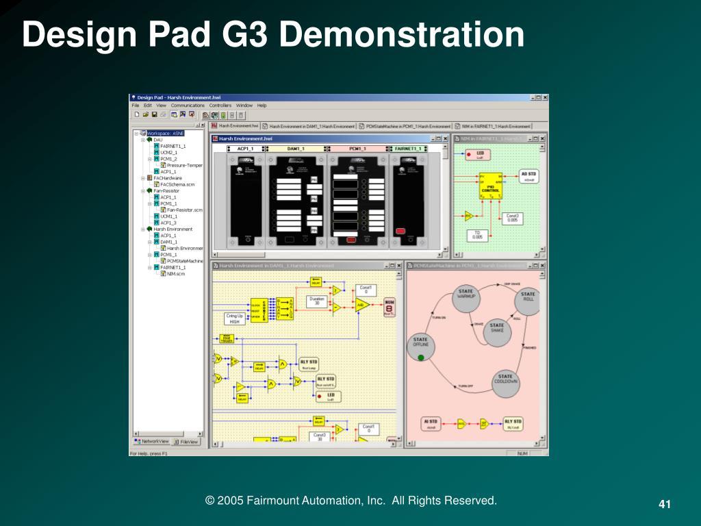 Design Pad G3 Demonstration
