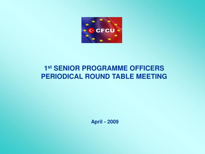 1 st senior program me officers periodical round table meeting n.