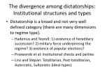 the divergence among dictatorships institutional structures and types