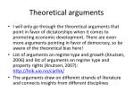 theoretical arguments