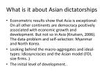 what is it about asian dictatorships