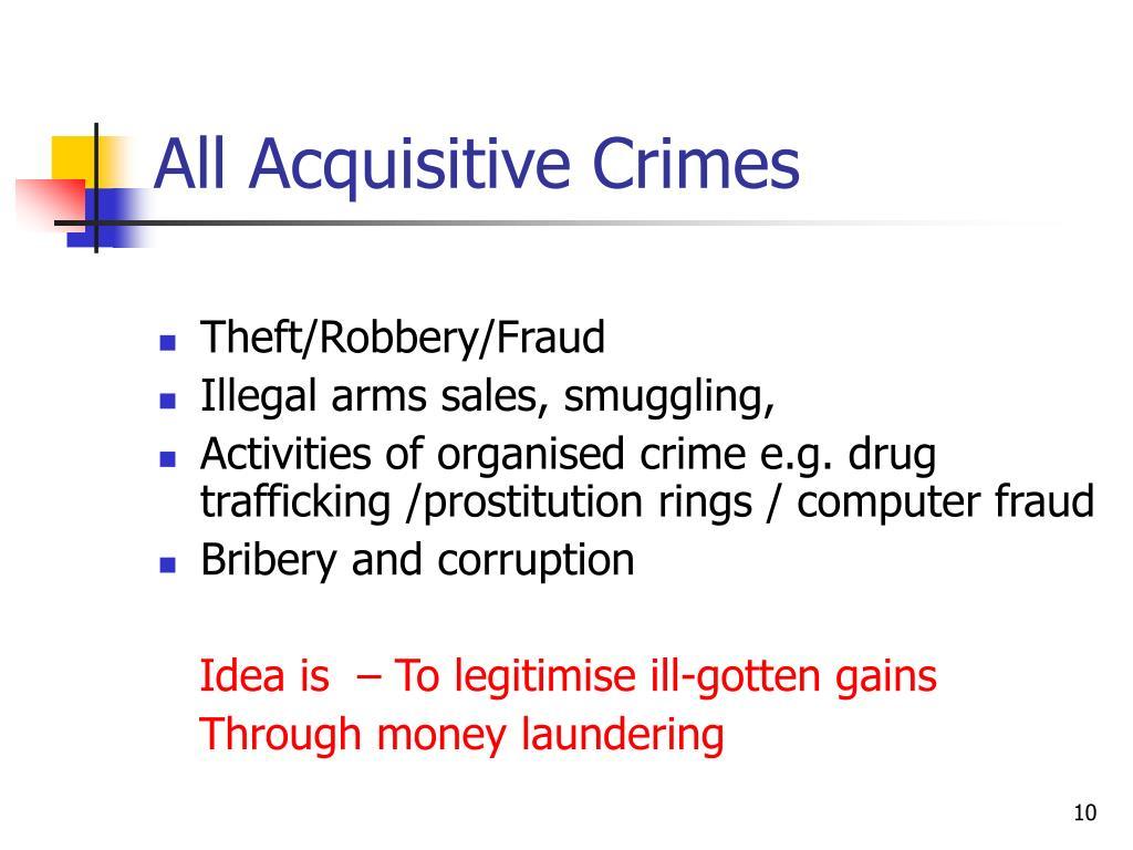 All Acquisitive Crimes