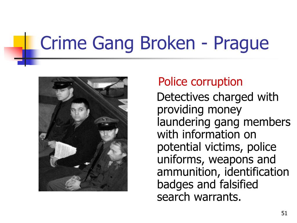 Crime Gang Broken - Prague