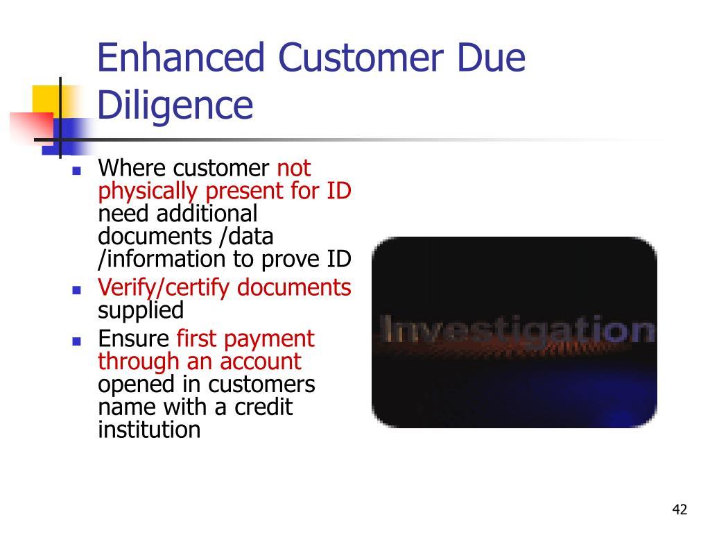 Enhanced Customer Due Diligence