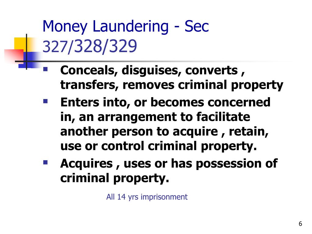 Money Laundering - Sec