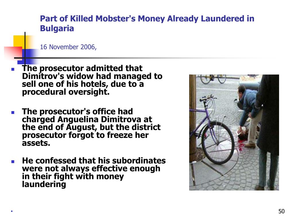 Part of Killed Mobster's Money Already Laundered in Bulgaria