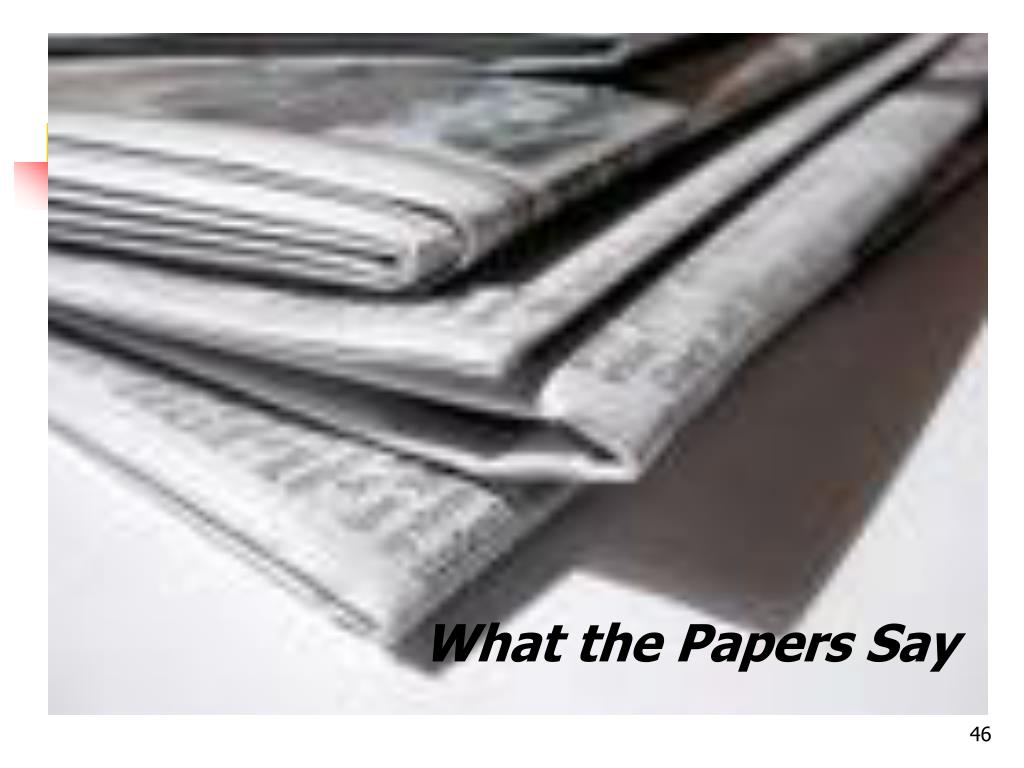 What the Papers Say