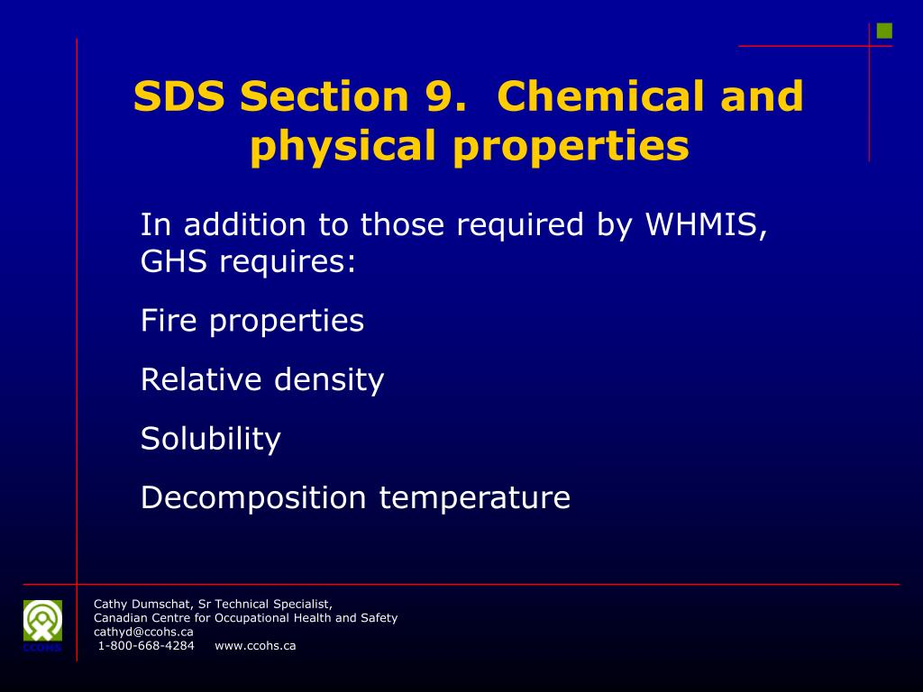 PPT - WHMIS meets GHS: Challenges for MSDS Authors and ...