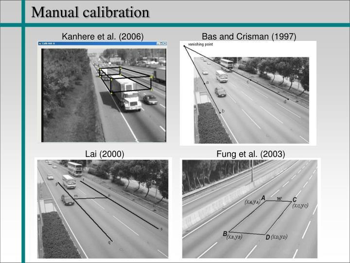 Manual calibration