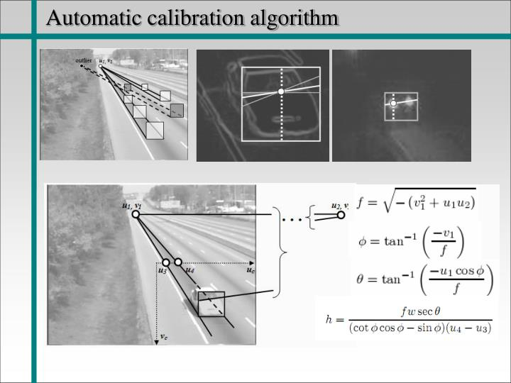 Automatic calibration algorithm