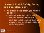 lesson i pistol safety parts and operation cont