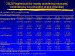 2sls regressions for money laundering measures controlling by log duration check collection37